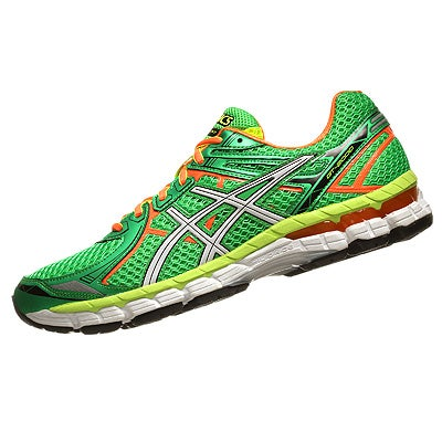Orange And Green Asics Running Shoes