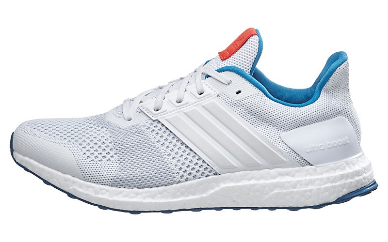 adidas Ultra Boost ST Men's Shoes White/White/Chili 360° View | Running  Warehouse.