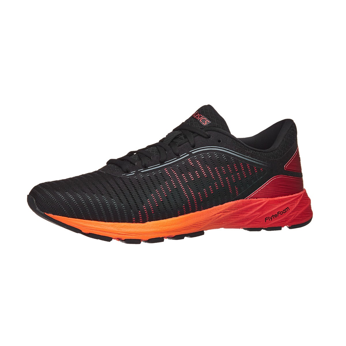asics dynaflyte 2 men's shoes black/fiery red/orange
