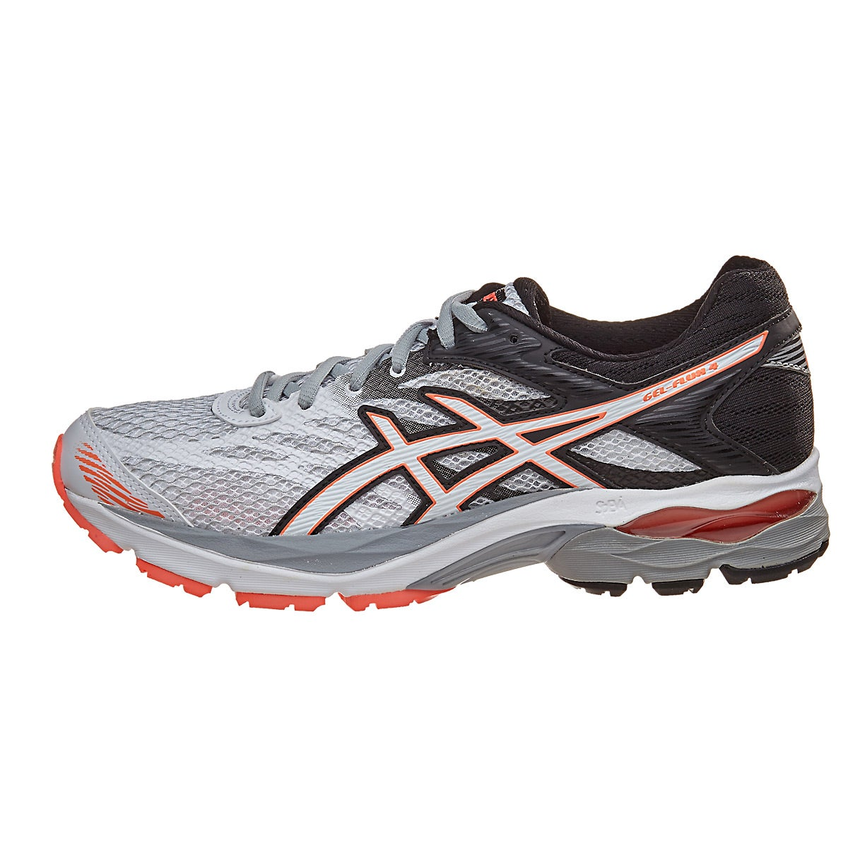 asics gel flux 4 women 39 s shoes white snow coral 360 view. Black Bedroom Furniture Sets. Home Design Ideas