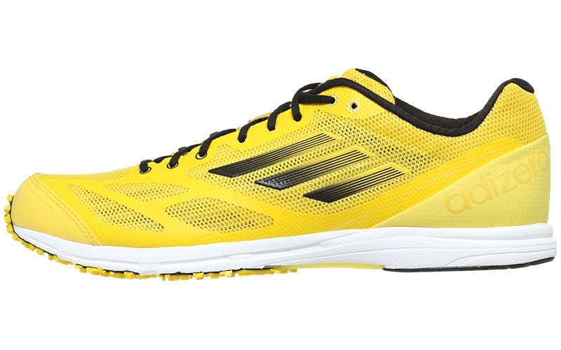 separation shoes 85f88 a7eab adidas adizero Hagio Mens Shoes YellowBlkWht 360° View  Running  Warehouse.