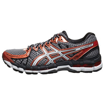 ASICS Gel Kayano 20 Men's Shoes Storm/White/Rust 360° View | Running  Warehouse.