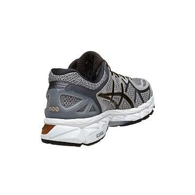 best sneakers 95cd8 b2a07 ASICS Gel Kayano 21 Men s Shoes Grey Black Gold 360° View   Running  Warehouse.