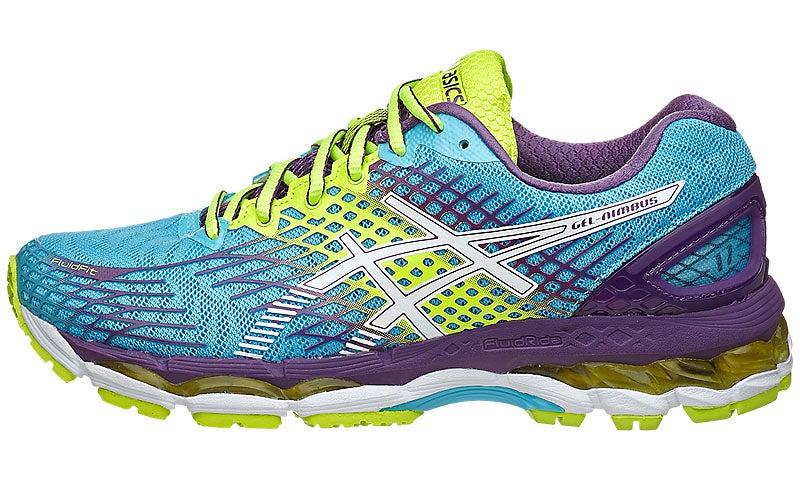 ASICS Gel Nimbus 17 Women's Shoes Blue/White/Purple 360° View | Running  Warehouse.