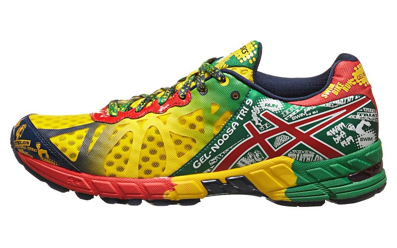 online store d359a 2ab19 ASICS Gel Noosa Tri 9 Men s Shoes Yellow Red Green 360° View   Running  Warehouse.