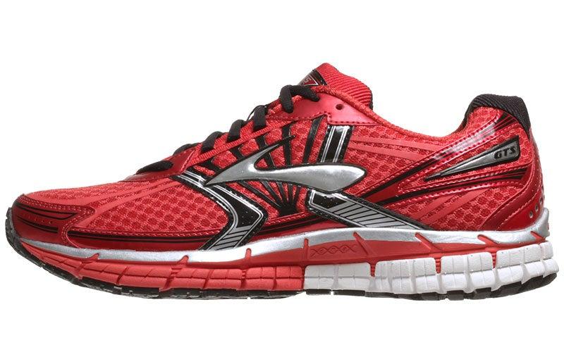 04caa9332cf09 Brooks Adrenaline GTS 14 Men s Shoes Red Black Silve 360° View ...