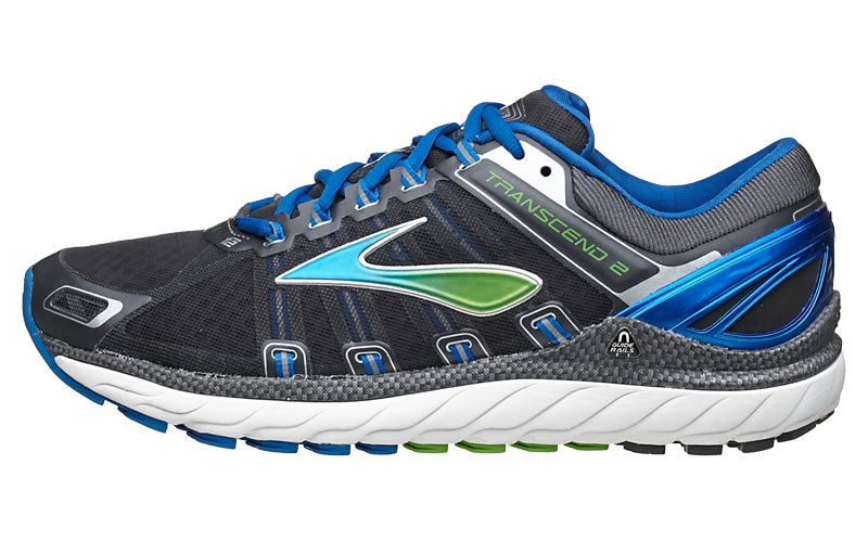 dirt cheap good texture quality design Brooks Transcend 2 Men's Shoes Anthracite/Blue/Green 360° View ...