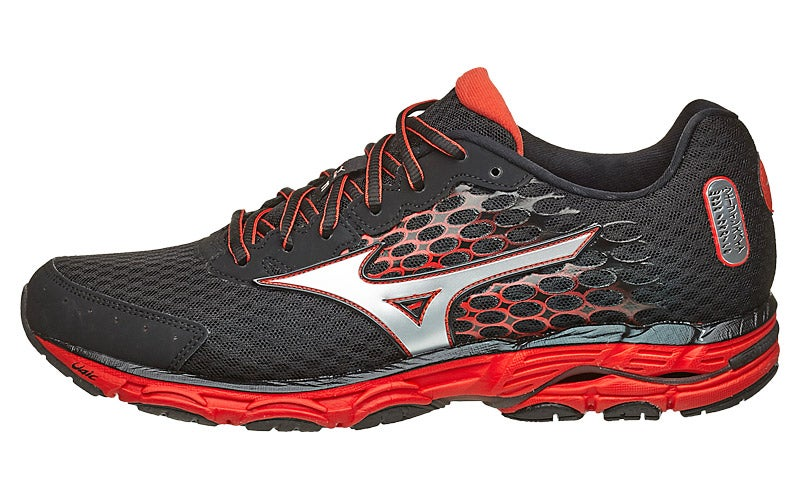 Mizuno Wave Inspire 11 Men's Shoes Black/Orange/Silv 360° View | Running  Warehouse.