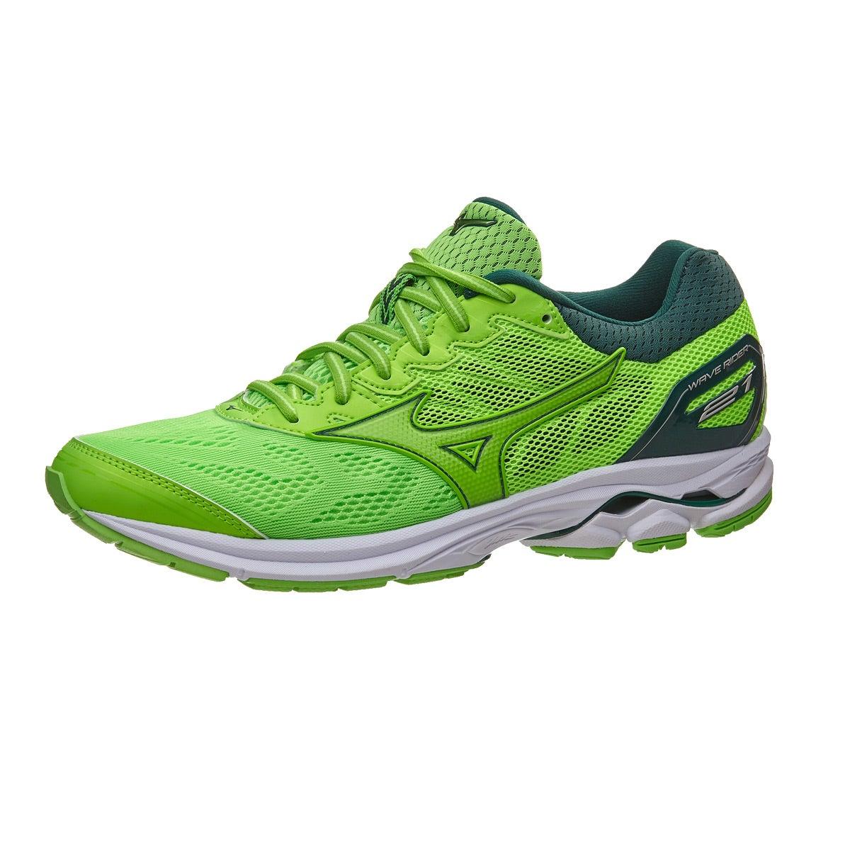 Mizuno Wave Rider 21 Men s Shoes Green Slime 360° View  33d13b0d5d