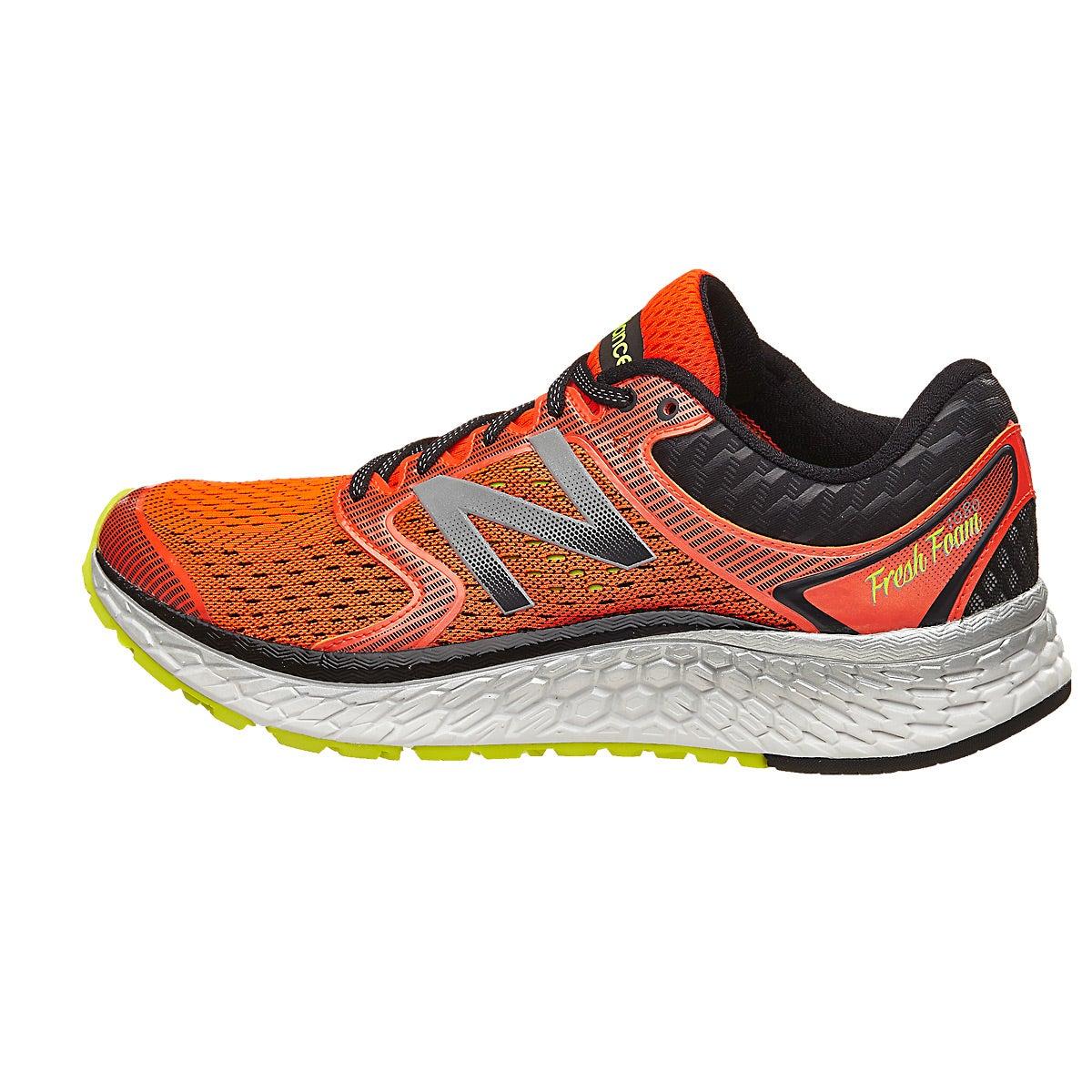 New Balance Fresh Foam 1080 v7 Men\u0027s Shoes Alpha Ora 360� View | Running  Warehouse.