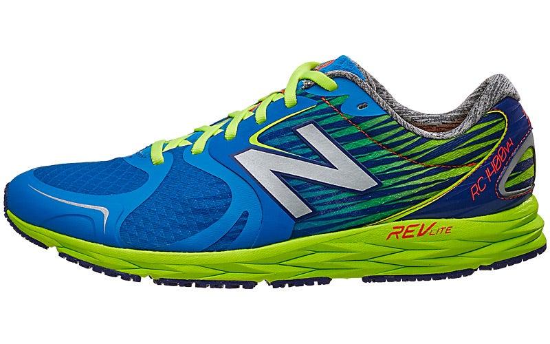 super popular f93cf b3572 New Balance RC1400 v4 Men's Shoes Blue/Green 360° View ...