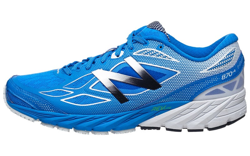 New Balance 870 v4 Men's Shoes Blue/White 360° View | Running Warehouse.