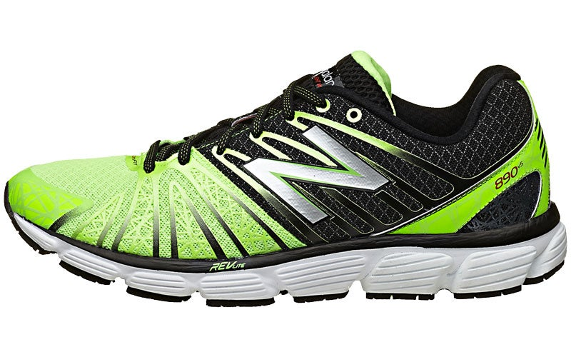 New Balance 890 v5 Men's Shoes Grey/Green 360° View | Running Warehouse