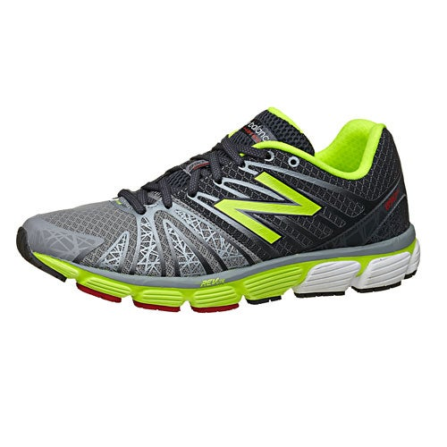 New Balance 890 v5 Men's Shoes Grey/Yellow 360° View | Running Warehouse.