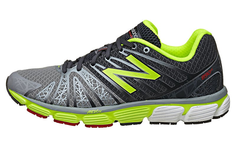 New Balance 890 v5 Men's Shoes Grey/Yellow 360° View | Running Warehouse