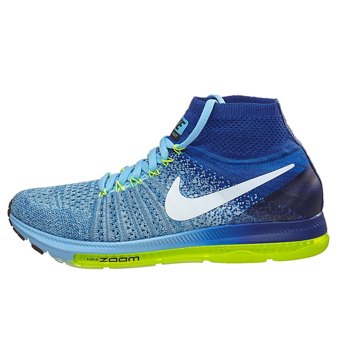 1cd7ba58e471f ... Nike Zoom All Out Flyknit Womens Shoes BlueCapWhit 360° View Running  Warehouse.