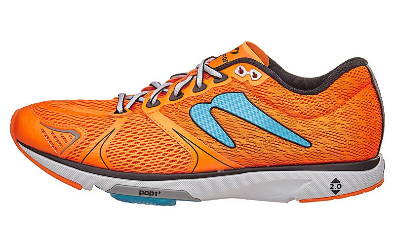 Newton Distance V Men's Shoes Orange/Blue 360° View | Running Warehouse.