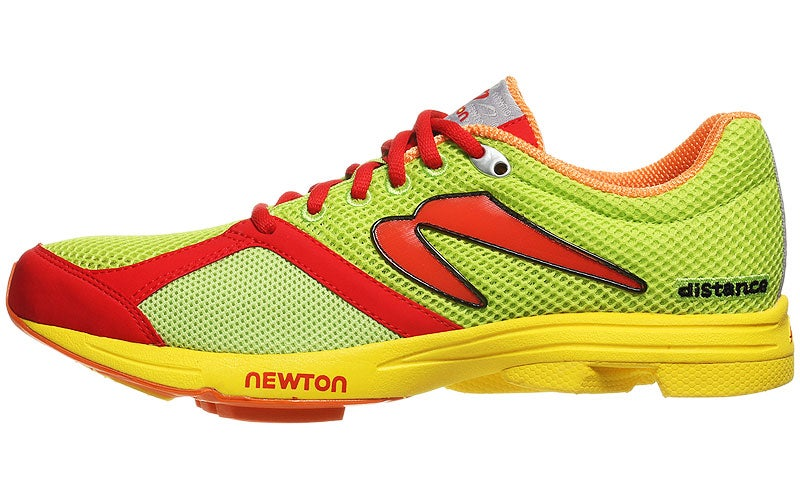 Newton Distance 2013 Men's Shoes Lime/Red 360° View ...