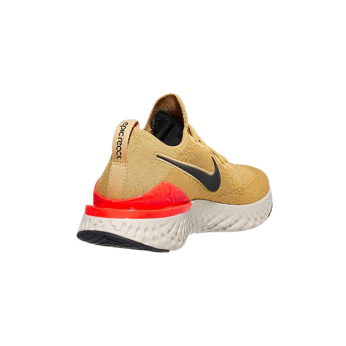 235f0f4e3dead4 Nike Epic React Flyknit 2 Men s Shoes Club Gold Black 360° View ...