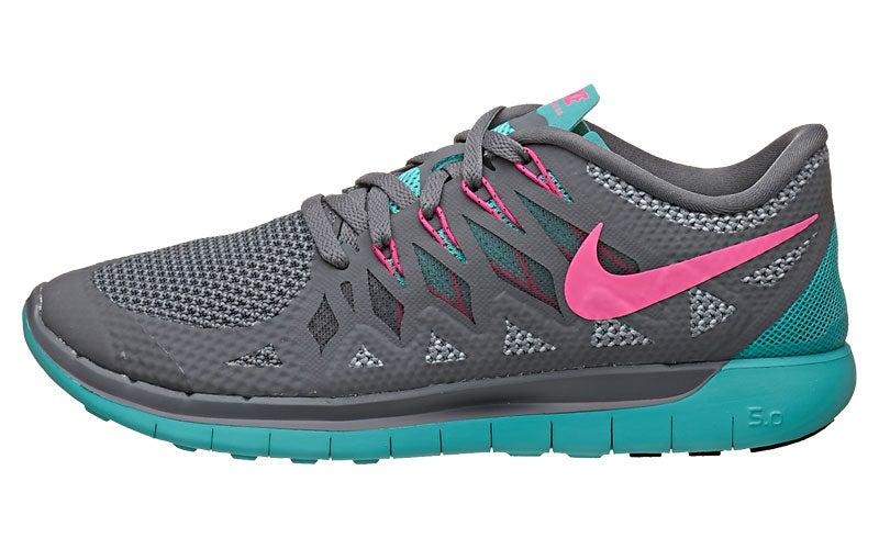 fb0057100d69 nike free 5.0 14 womens shoes grey jade pink .