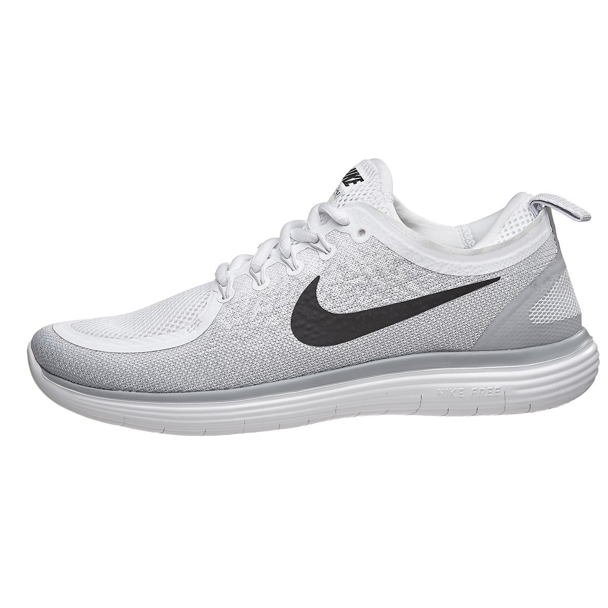 Nike Free Rn Distance 2 Women S Shoes White Black Pl 360 View Running Warehouse