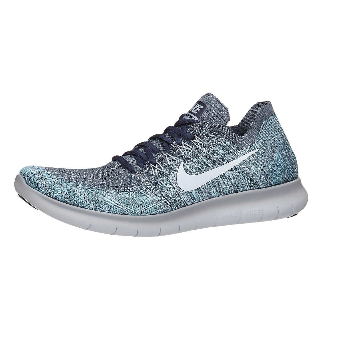 42924a784ebae ... promo code for nike free rn flyknit 2017 mens shoes blue fox 360 view  running warehouse