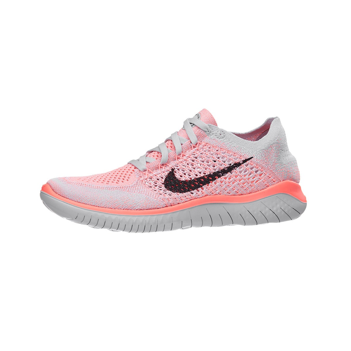 innovative design e9cc4 f8172 ... release date nike free rn flyknit 2018 womens shoes crimson black 360  view running warehouse.
