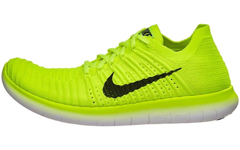 Nike Free RN Flyknit MS Men's Shoes VoltBlack 360° View