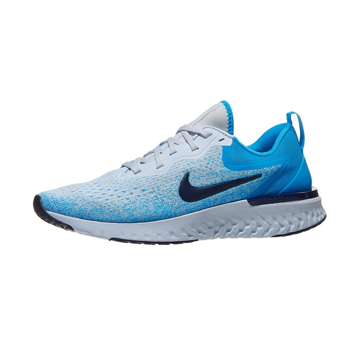 5b7bc0aae70a Nike Odyssey React Women s Shoes Football Grey Blue 360° View ...