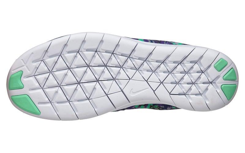 71f6d9fb9163 Nike Kids Free RN GS Print Girl s Shoes Dark Iris Si 360° View ...