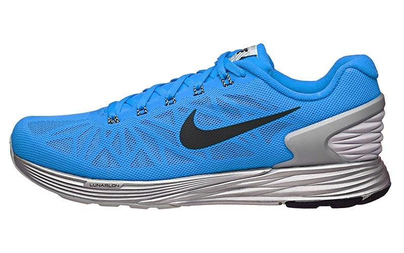 Nike LunarGlide 6 Flash Men's Shoes Blue/Black/Silve 360° View | Running  Warehouse.