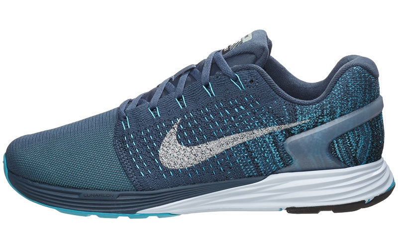 hot sale online 93426 01c82 Nike LunarGlide 7 Flash Men s Shoes Blue Green Silve 360° View   Running  Warehouse.