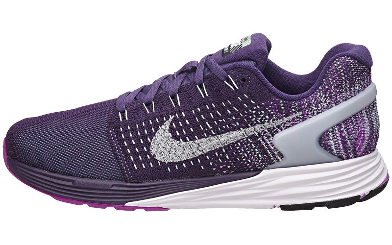 Nike LunarGlide 7 Flash Women s Shoes Purple Copa Si 360° View ... 4b1c18b44b77