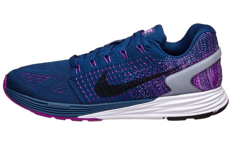 promo code f9e3d 47c23 Nike LunarGlide 7 Women s Shoes Blue Purple Fuchsia 360° View   Running  Warehouse.