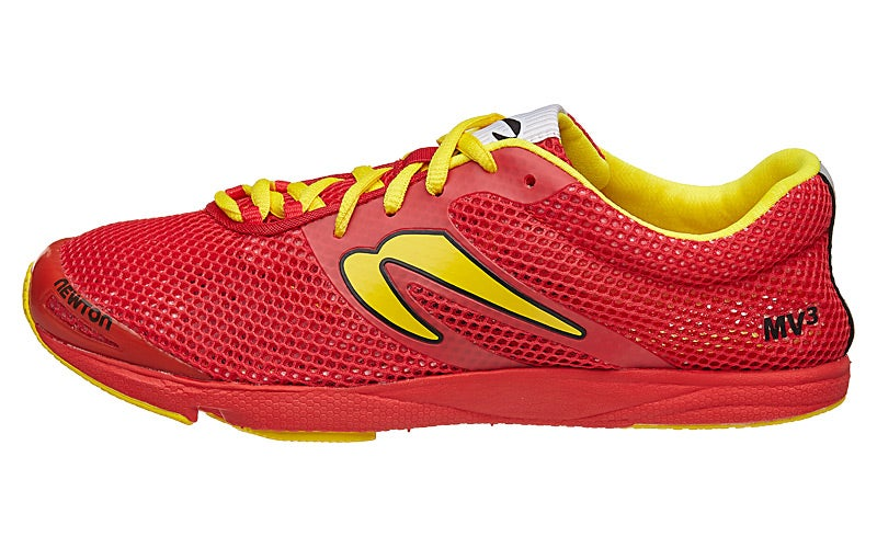 moins cher 1624d 84273 Newton MV3 Men's Shoes Red/Yellow 360° View | Running Warehouse