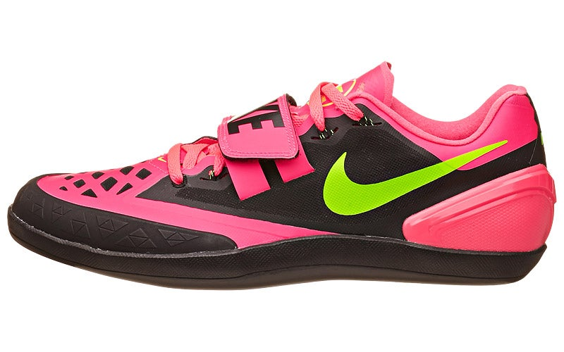 fe9bfd77 Nike Zoom Rotational 6 Throw Shoes Punch/Blk/Grn 360° View | Running  Warehouse.