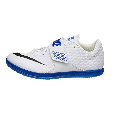 Nike Zoom High Jump Elite Unisex Spikes White/Blue 360° View ... High