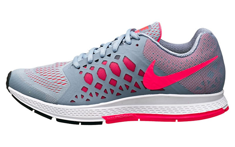 new style e34e7 a707b ... Nike Zoom Pegasus 31 Women s Shoes Grey Punch 360° View   Running  Warehouse. ...