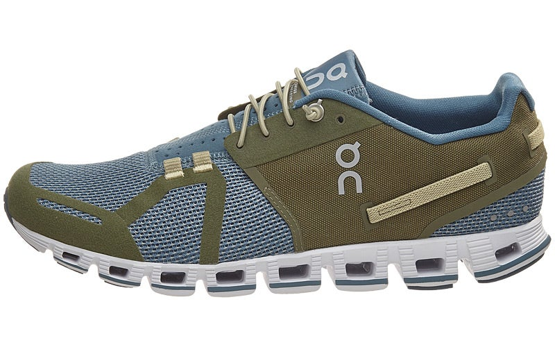 ON The Cloud Men's Shoes Olive/Grey 360° View | Running Warehouse.