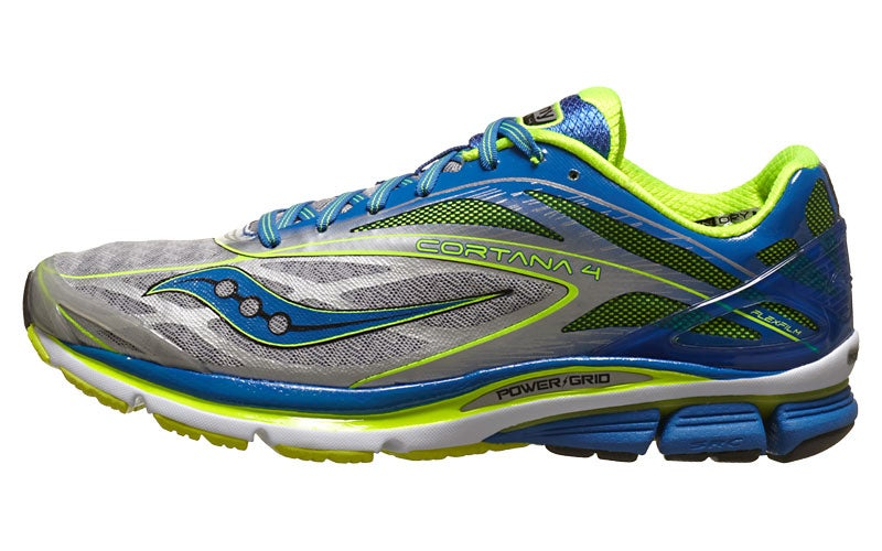Saucony Cortana 4 Men's Shoes Silver/Blue/Citron 360° View | Running  Warehouse.