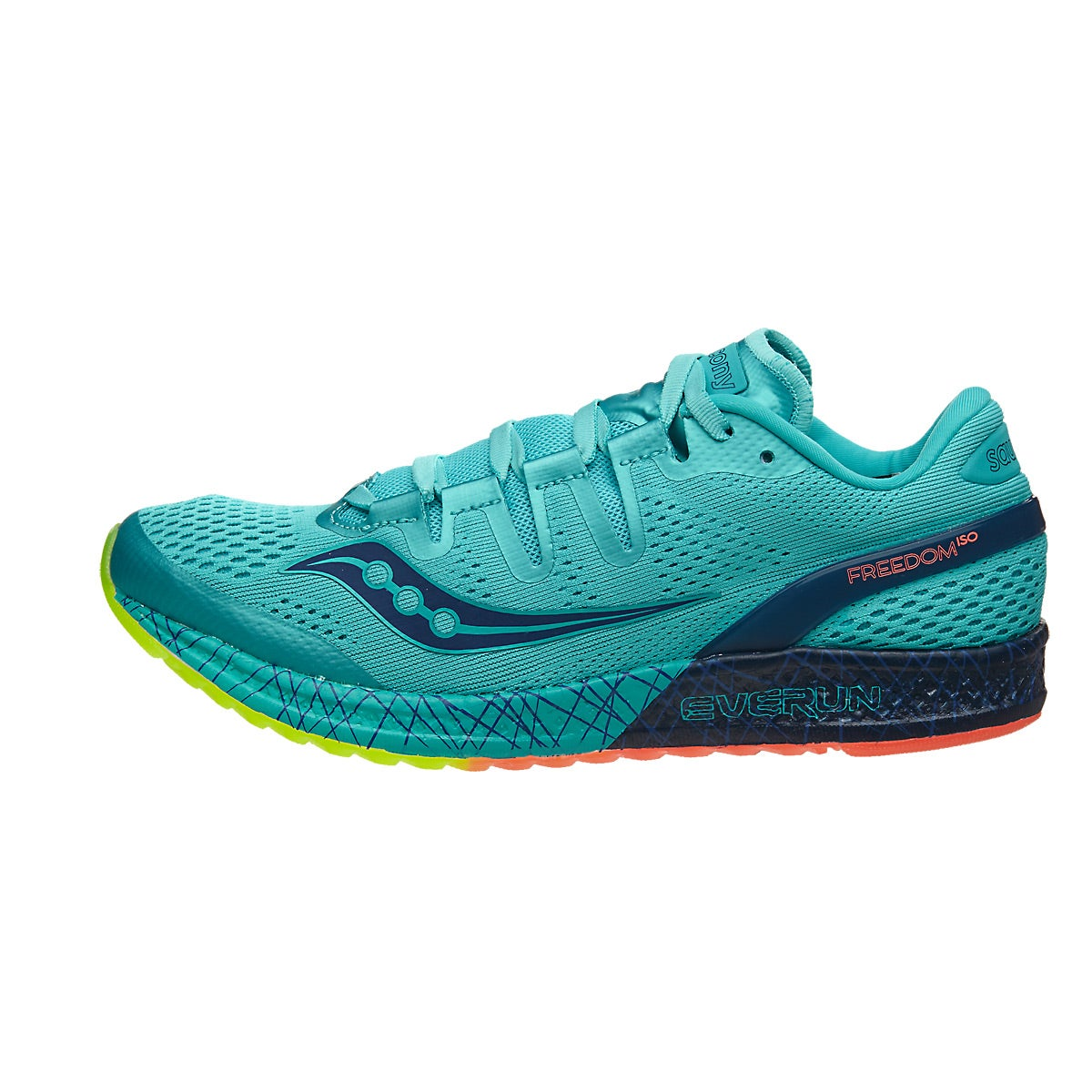 Saucony Freedom ISO Women's Shoes Blue/Citron 360° View ...