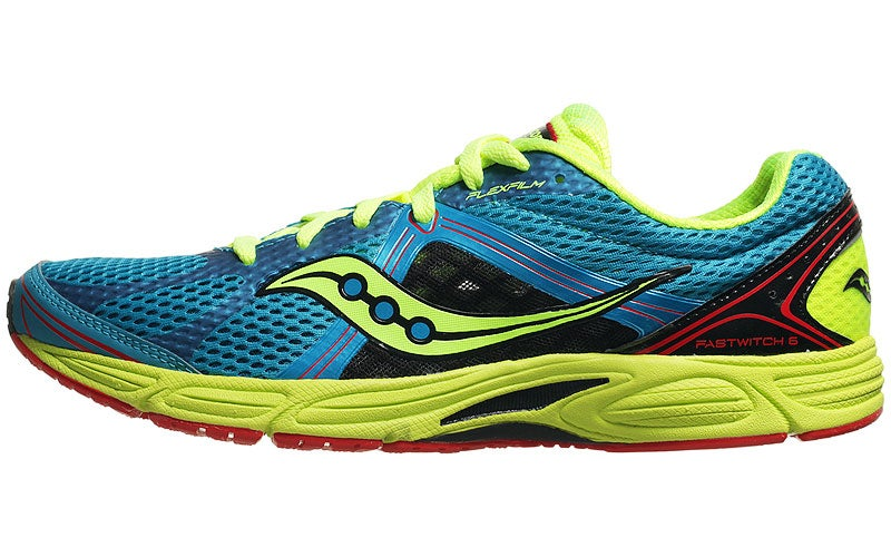 Saucony Fastwitch 6 Men's Shoes Blue/Citron 360° View | Running Warehouse.