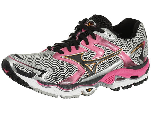 15% Off Mizuno Wave Inspire 9 - Womens Running Shoes - Pink/Silver