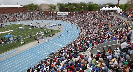Crowd shot of the 101st 2010 Drake Relays.  Photo courtesy of John Barnhart