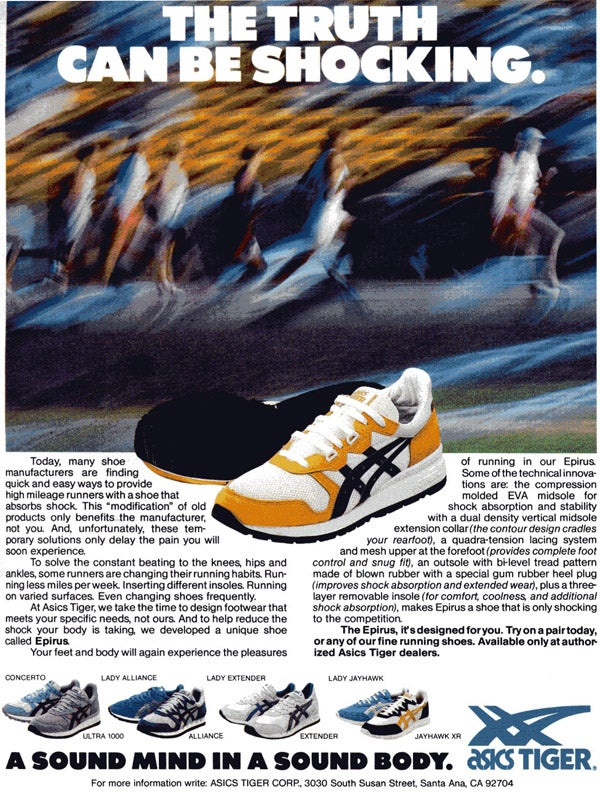 Asics Runners World Ad circa May 86