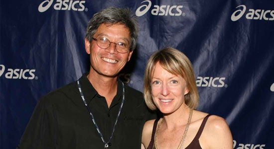 Joe and 96 Olympic Marathon Bronze Medalist Denna Kastor at the 2010 Asics Gold Account Meeting