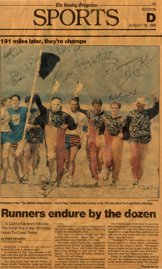 1990 Oregonian Article on the Hood to Coast