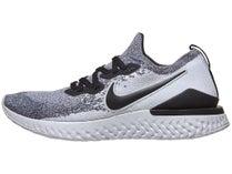 newest c5d4a f2eae Nike Epic React Flyknit 2. Wht Blk Platinum