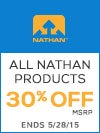 30% Off Nathan Products