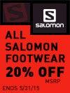 20% Off Salomon Footwear
